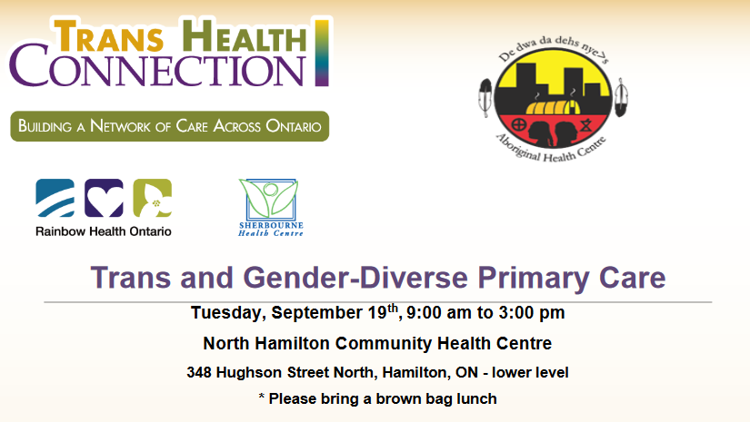 Sep 19: Trans and Gender-Diverse Primary Care RHO Session at NHCHC