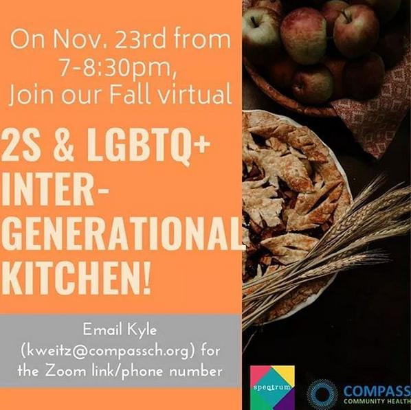 2S & LGBTQ+ Intergenerational Kitchen: Monthly!