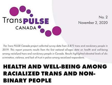 Trans PULSE Report: Health and Well-Being Among Racialized Trans and Non-Binary People