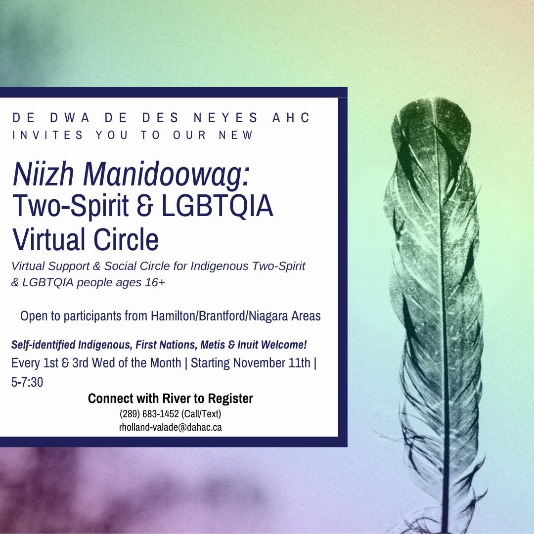Two-Spirit and LGBTQIA Virtual Circle