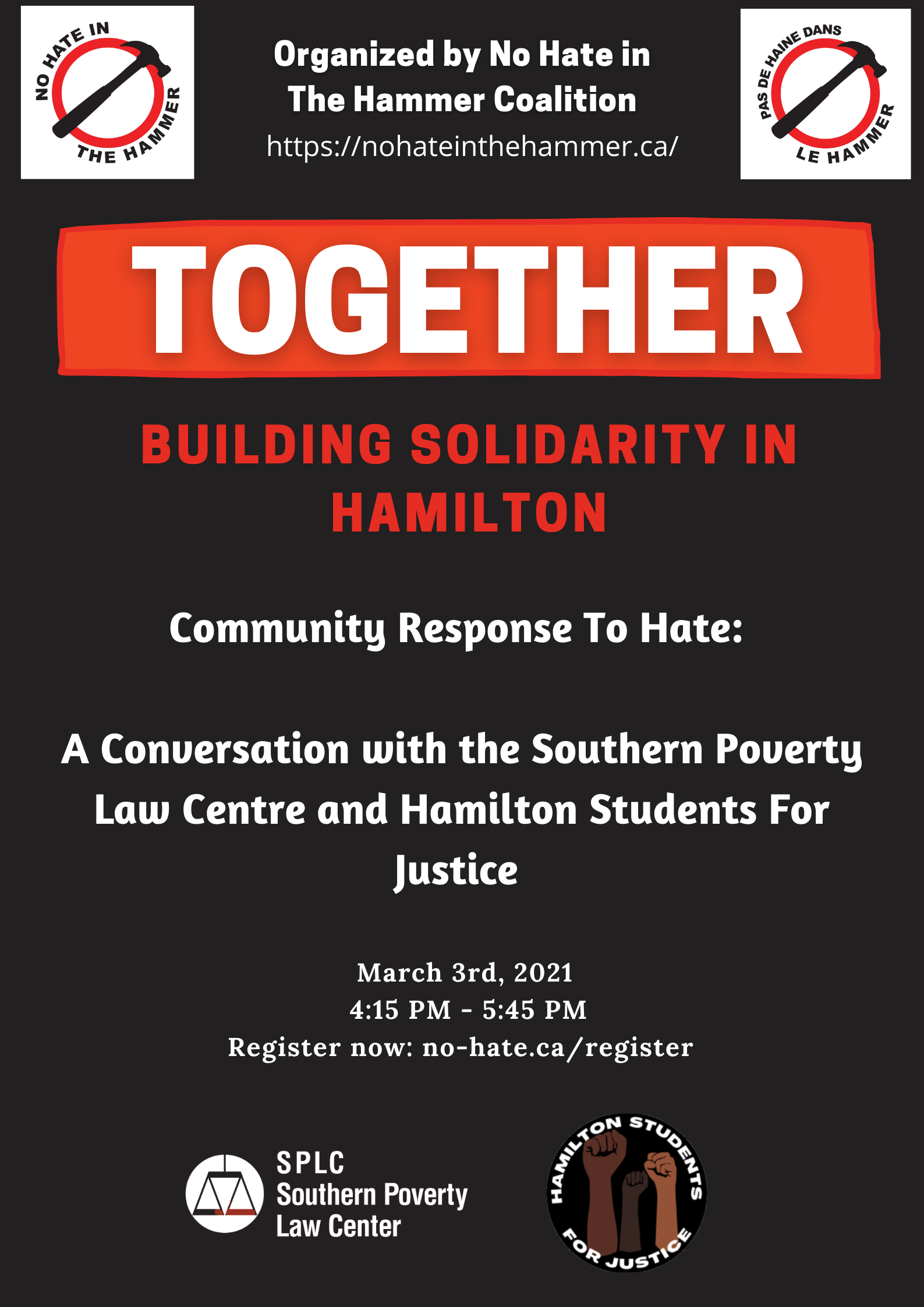 A Community Response to Hate (Mar 3)